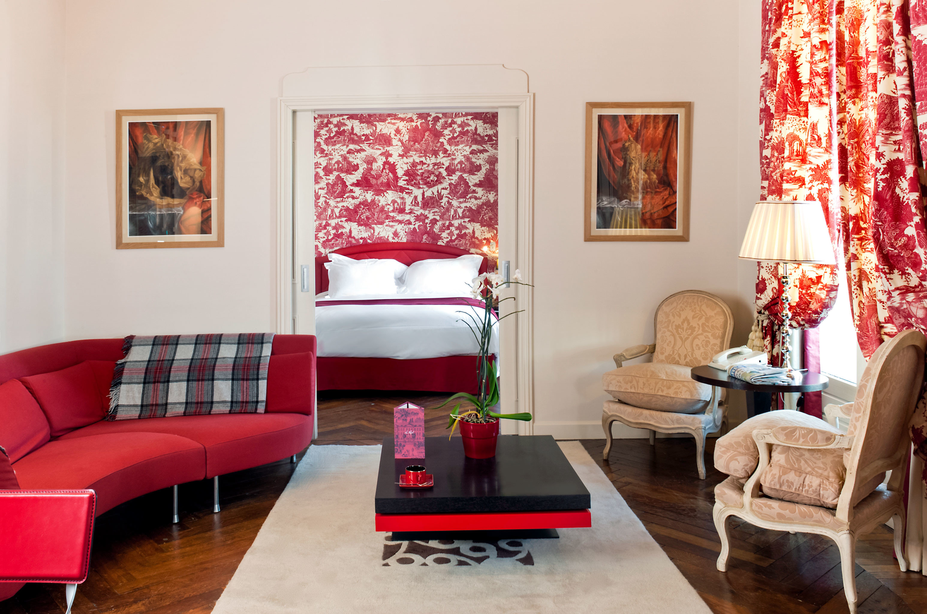 Bedroom Hip Modern sofa red living room property home cottage