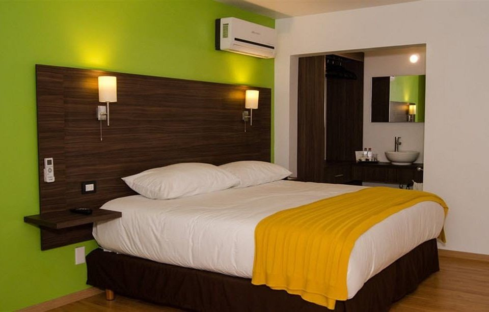 Bedroom Hip Modern Romantic Suite property yellow bed frame night