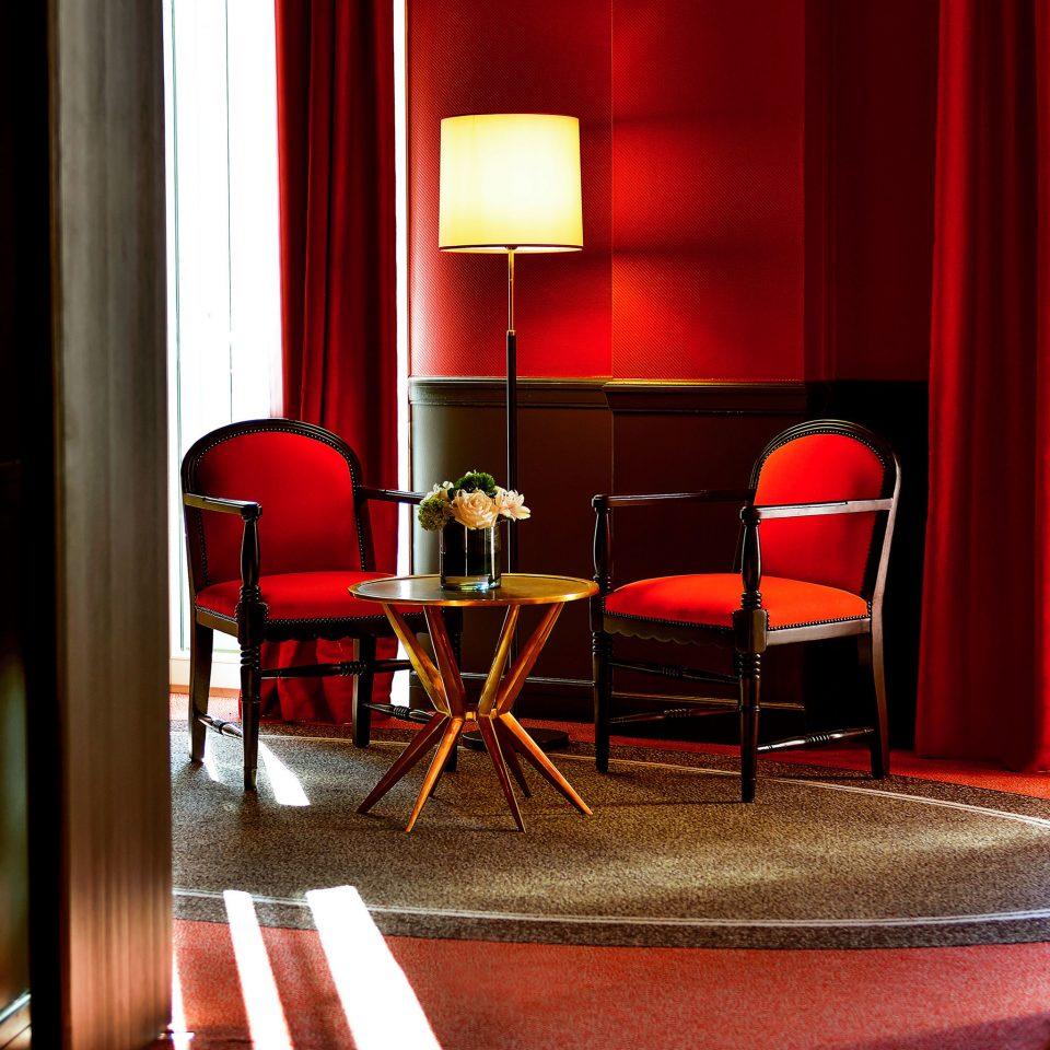 Hip Modern red chair Suite restaurant flooring door living room Bedroom lamp