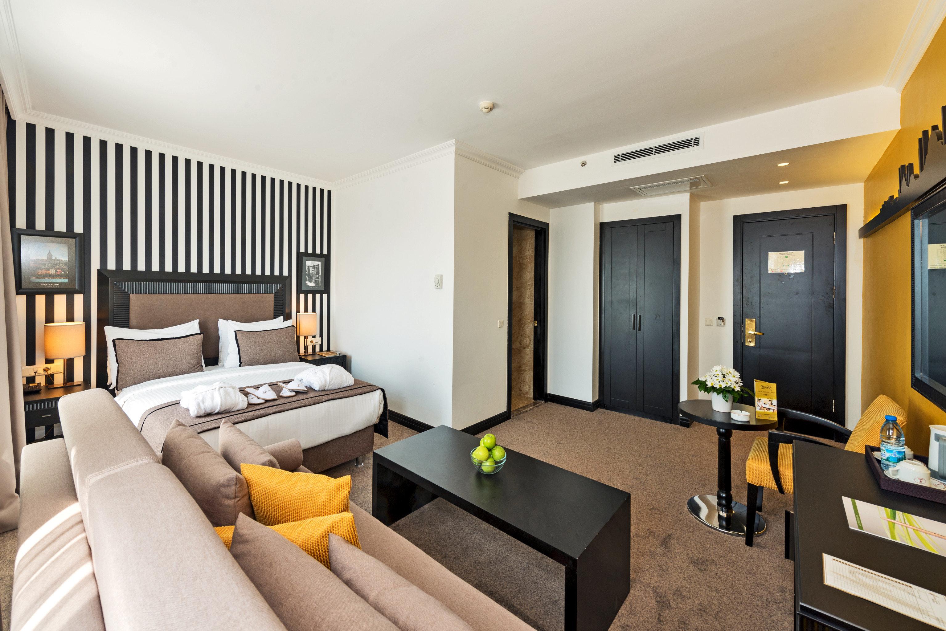 Bedroom Hip Modern property condominium Suite home living room Villa cottage flat