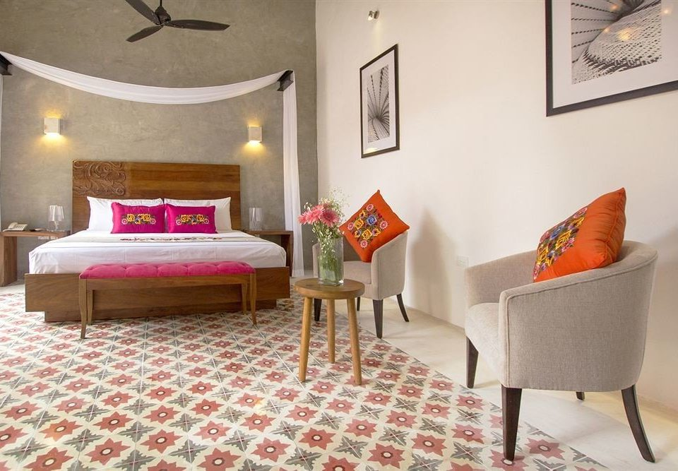 Bedroom Hip Modern Suite property living room home cottage orange flooring bed sheet colored
