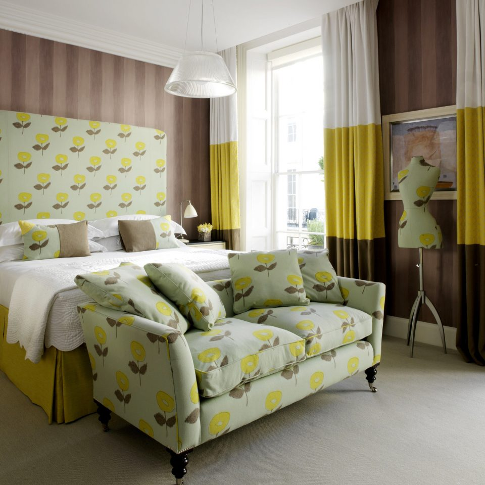 Bedroom Hip yellow living room bed sheet textile curtain Suite bed frame