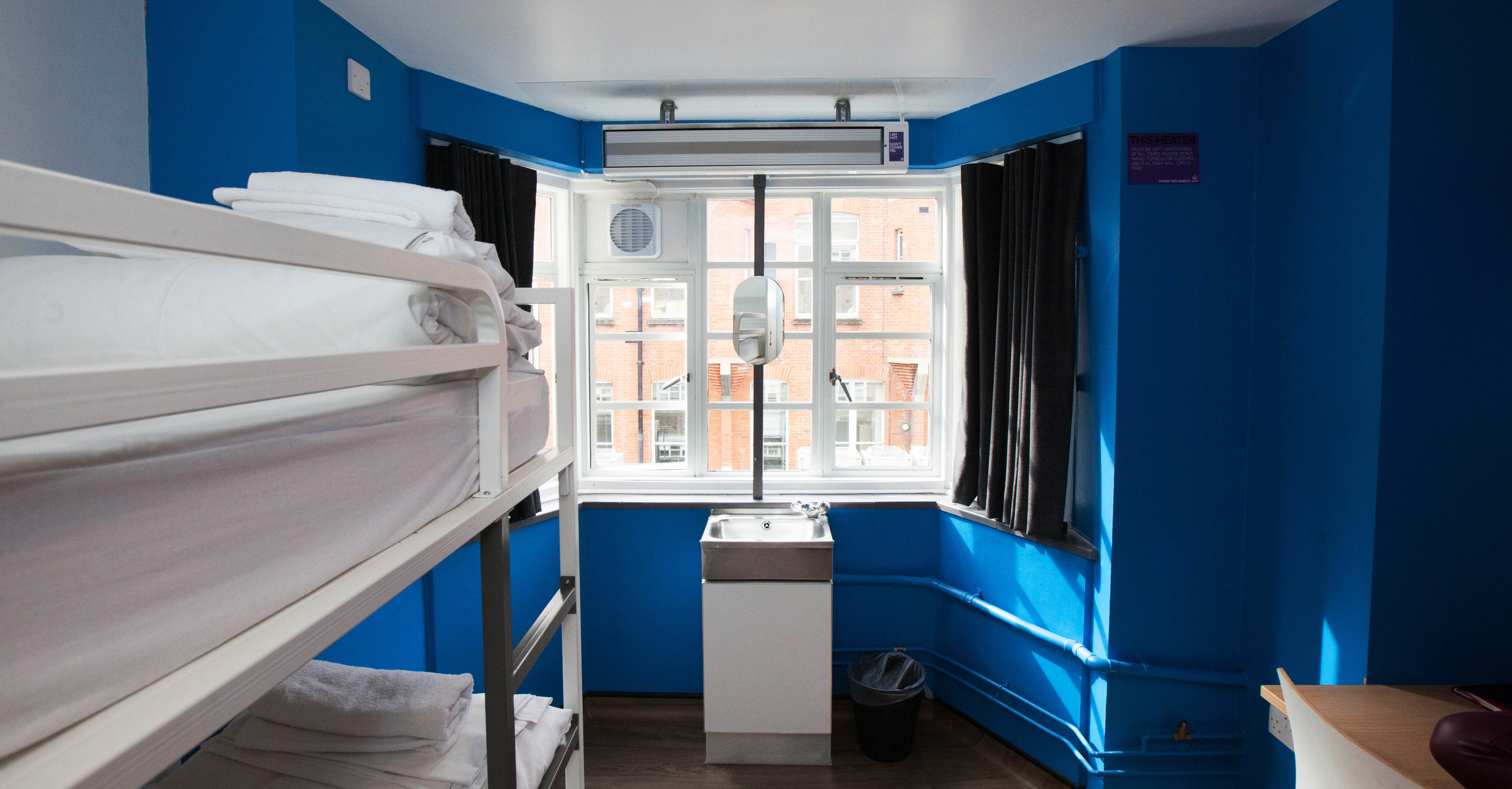 Bedroom Hip Suite blue living room