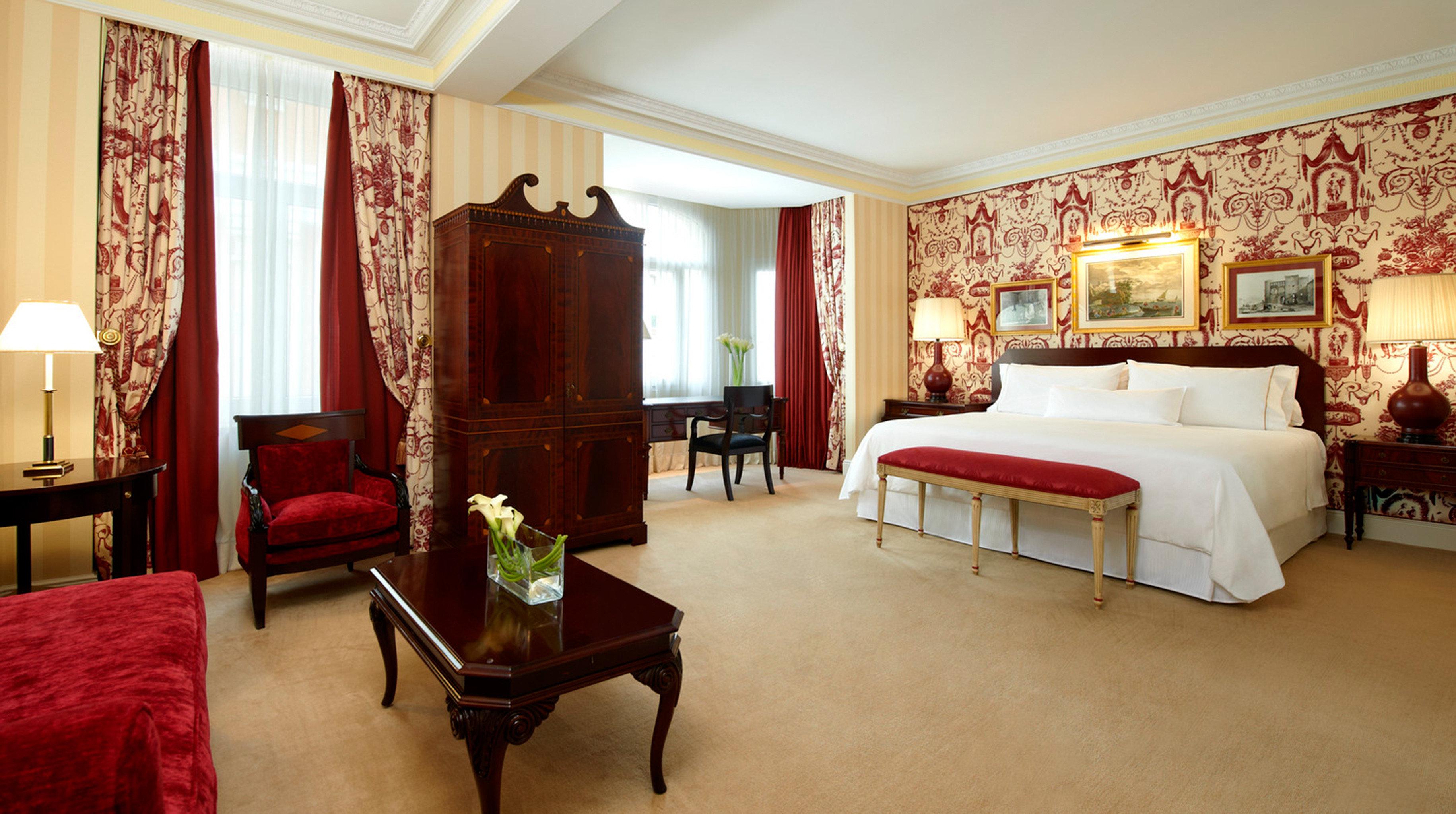 Bedroom Historic Hotels Lounge Madrid Rustic Spain Suite property living room home hardwood Villa
