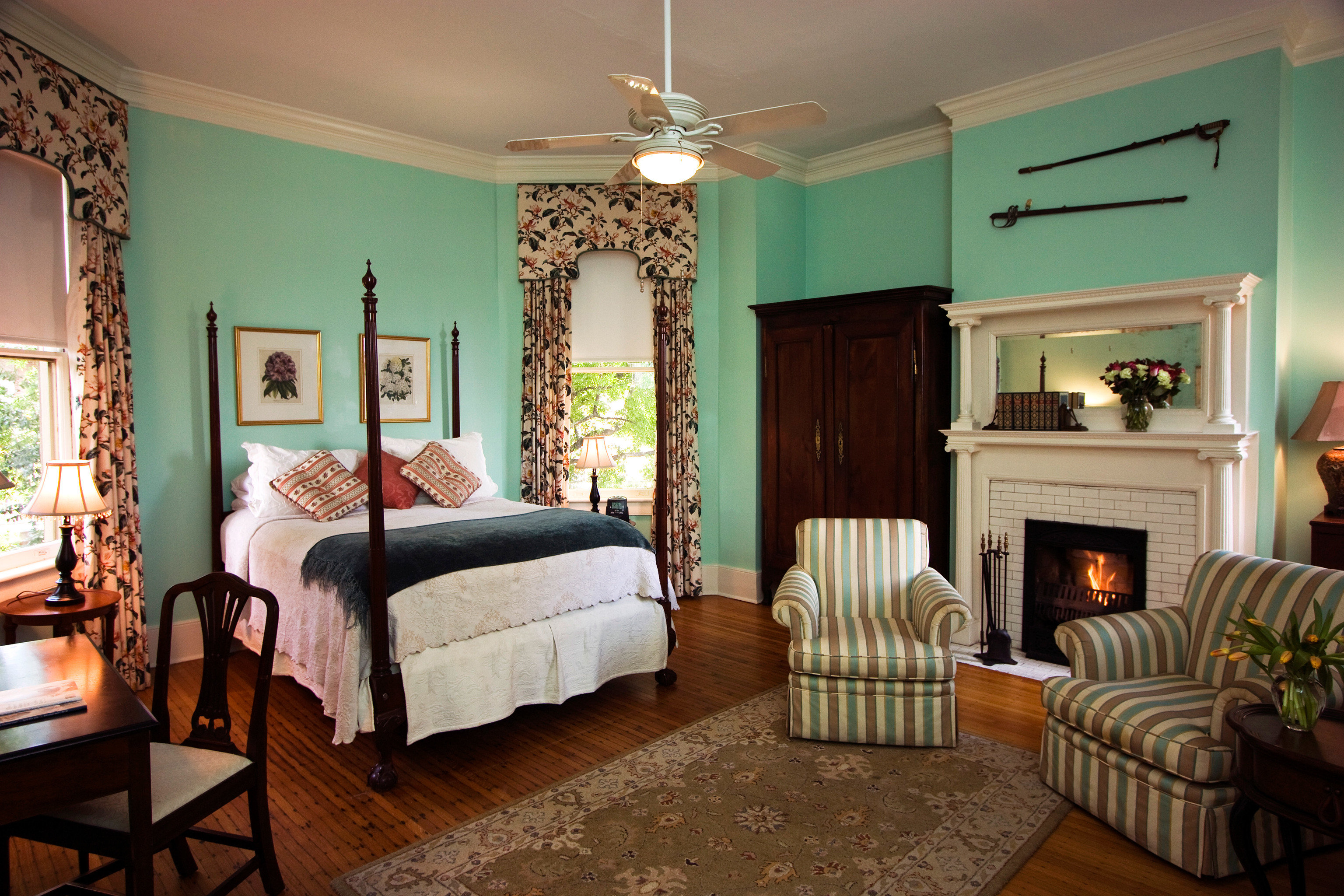 Bedroom Historic Luxury Suite property living room home hardwood cottage farmhouse