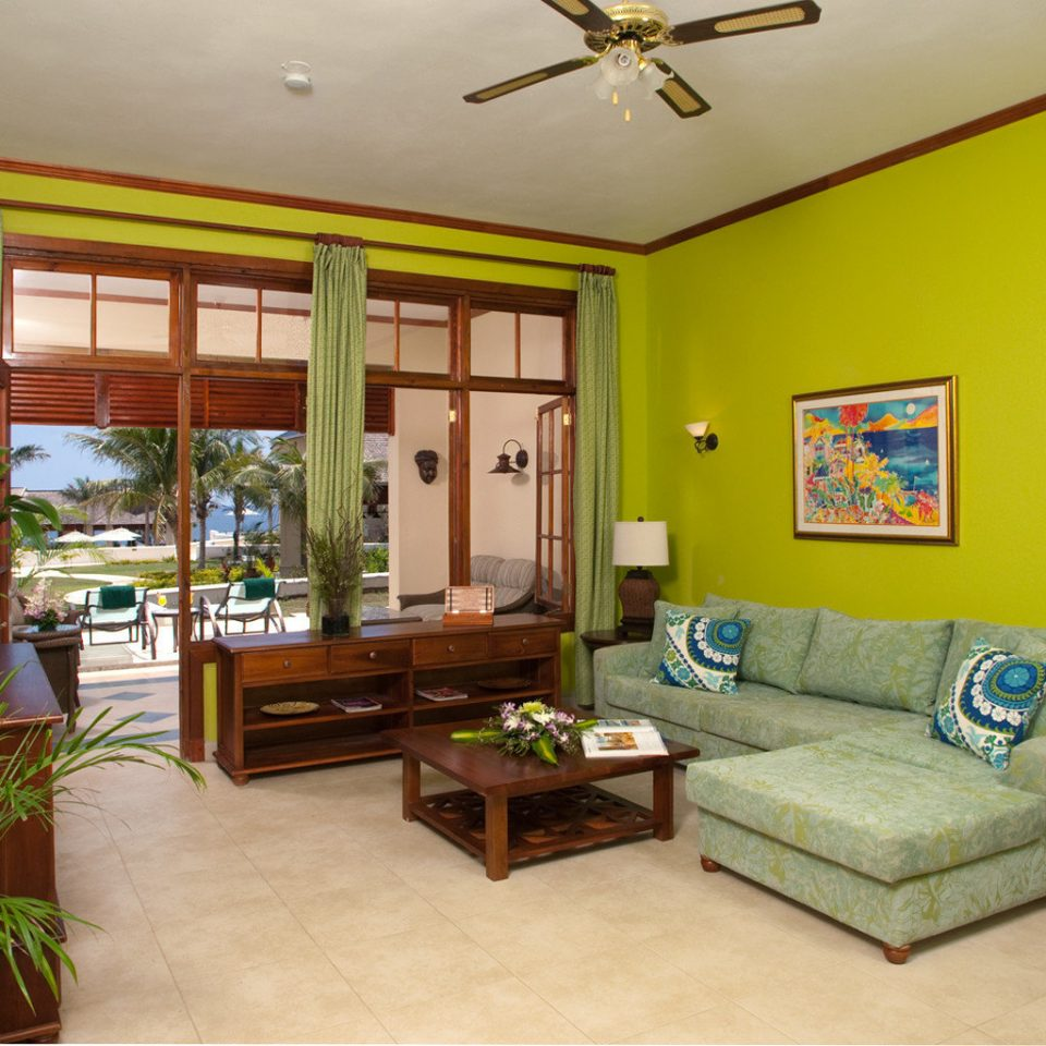 Island Lounge Patio Scenic views Terrace Tropical yellow property living room home cottage Bedroom Villa condominium farmhouse