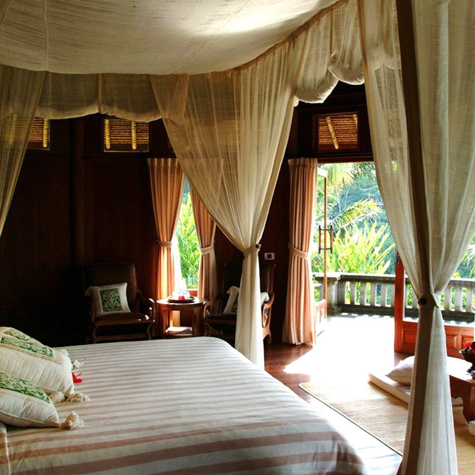 Bedroom Jungle Luxury Resort curtain Suite cottage Villa eco hotel