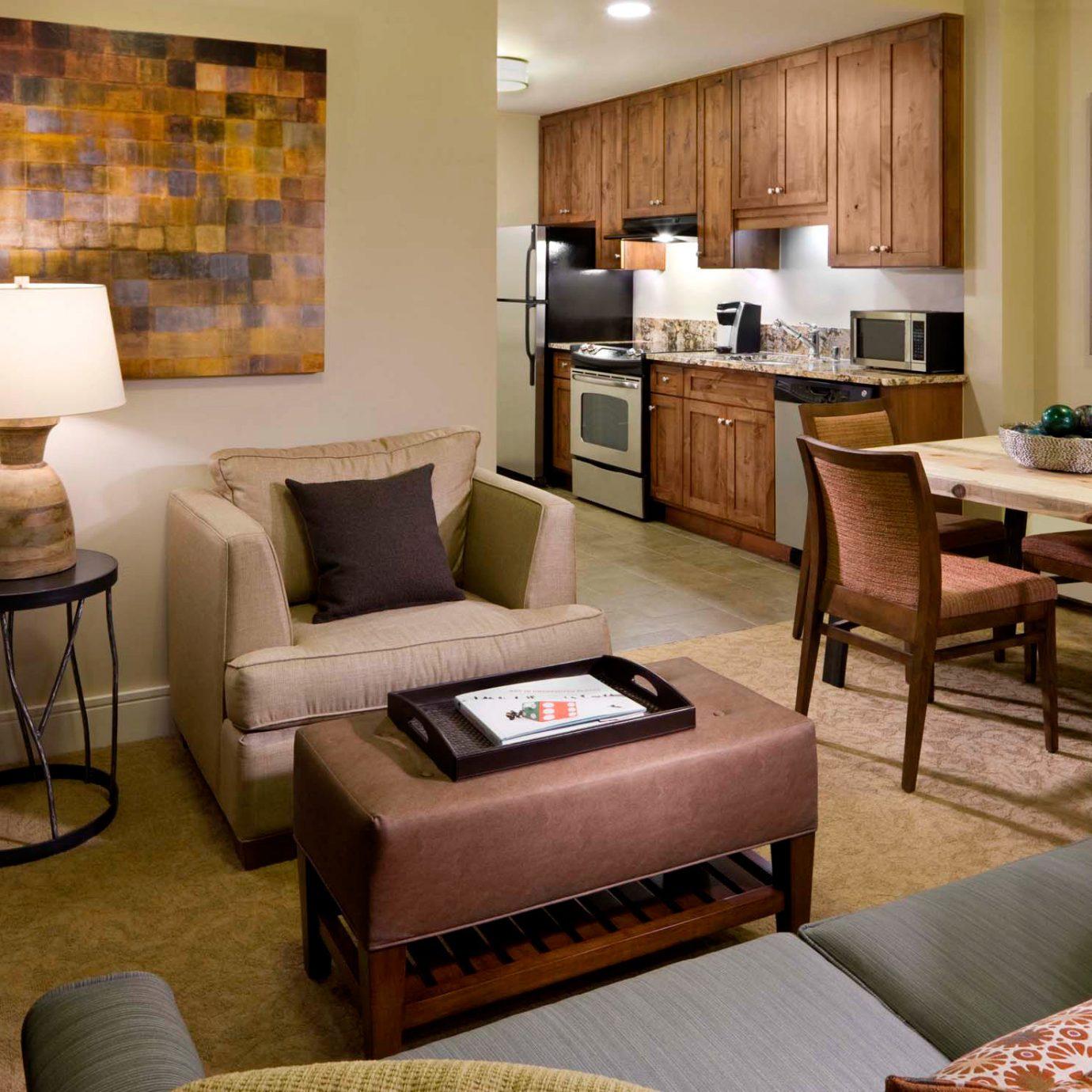 Kitchen Modern property living room Suite home condominium cottage Villa Bedroom