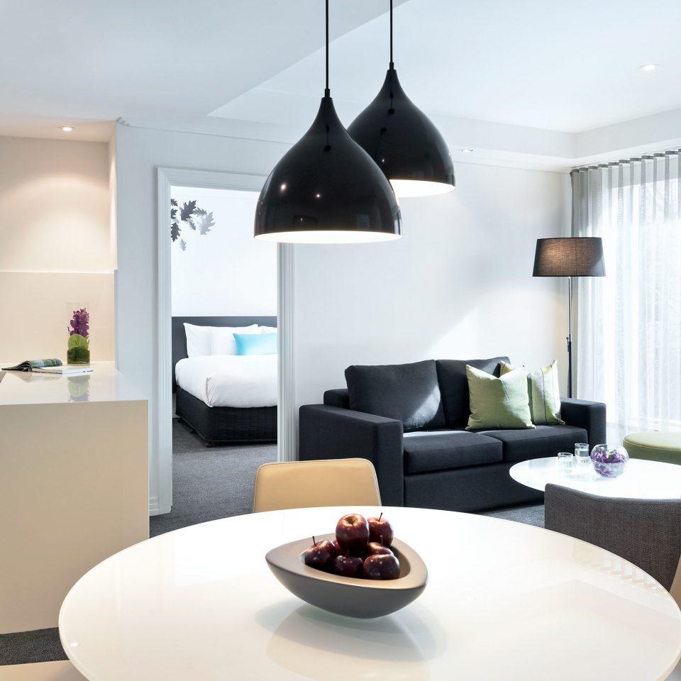 Bedroom Kitchen Modern living room property home lighting Suite