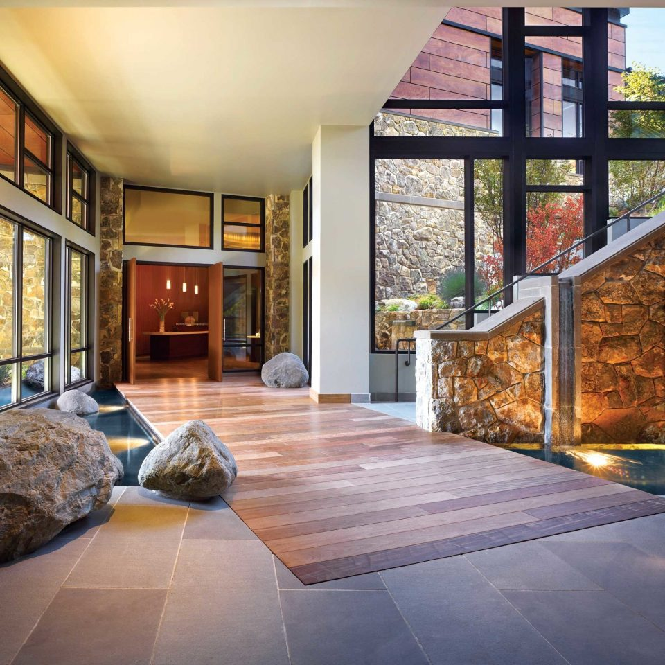 Lobby Luxury Modern property home hardwood house flooring living room wood flooring outdoor structure stone Bedroom