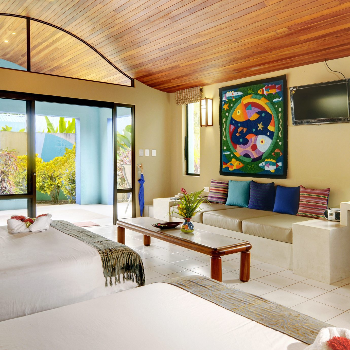 Bedroom Modern Patio Resort property living room home house Lobby Villa mansion