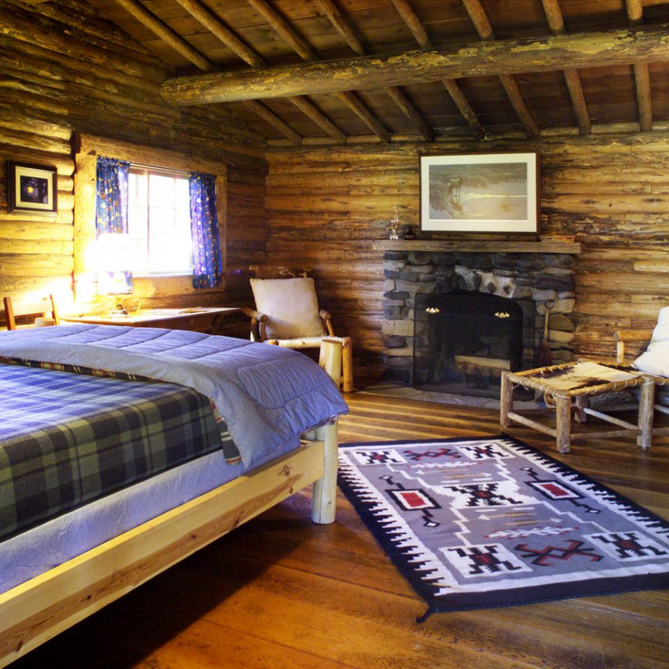 Bedroom Lodge Ranch Rustic Suite property log cabin house cottage home farmhouse living room