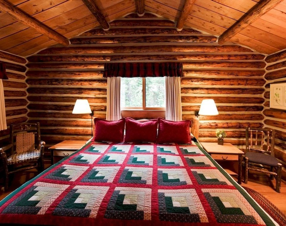 Bedroom Lodge Romantic cottage log cabin Resort bed sheet