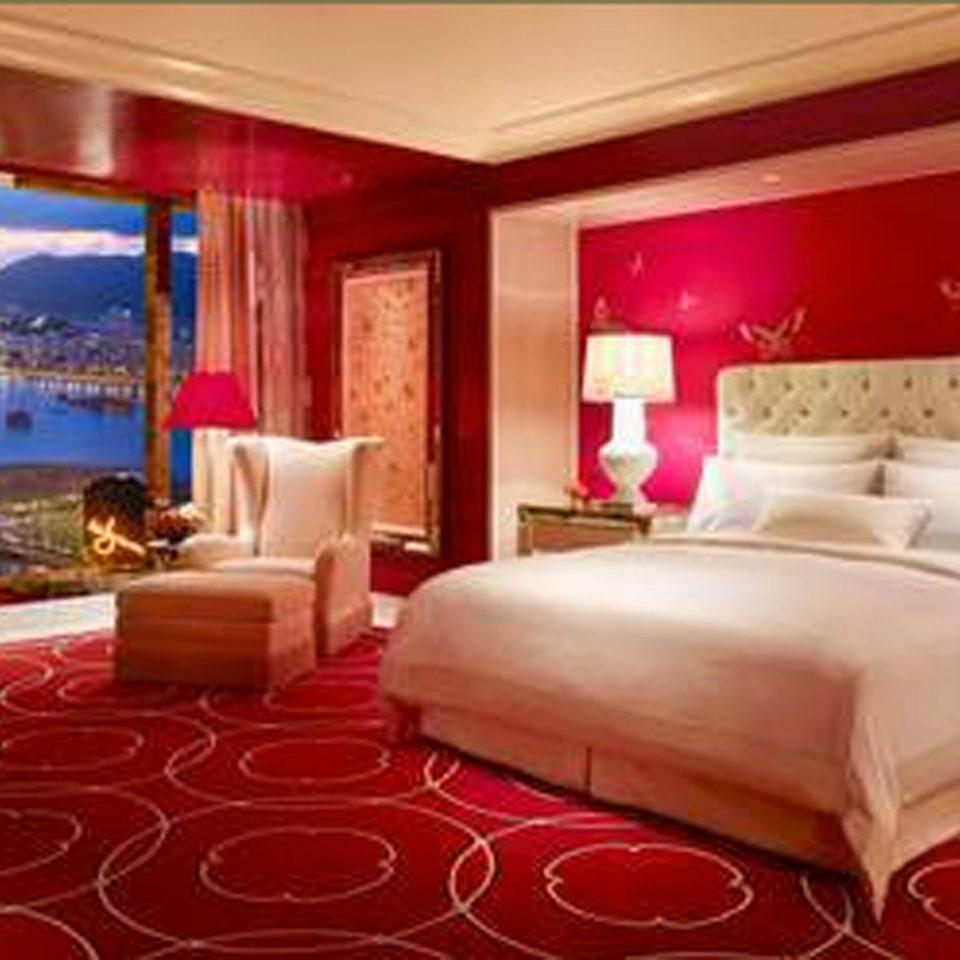Bedroom Lounge Luxury Modern Suite red property Resort bed sheet cottage