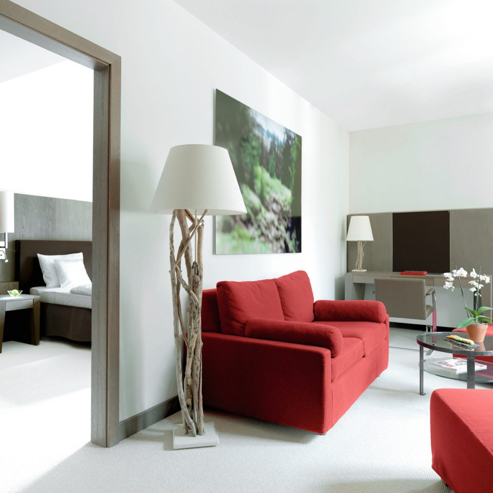 Bedroom Lounge Luxury Modern Suite sofa red property living room condominium home flat