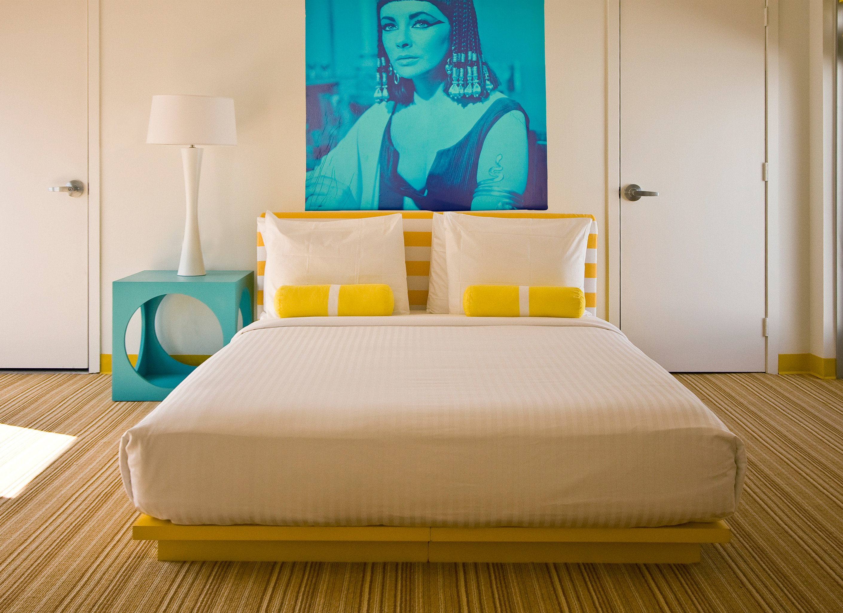 Bedroom Lounge Luxury Modern Suite yellow bed sheet bed frame