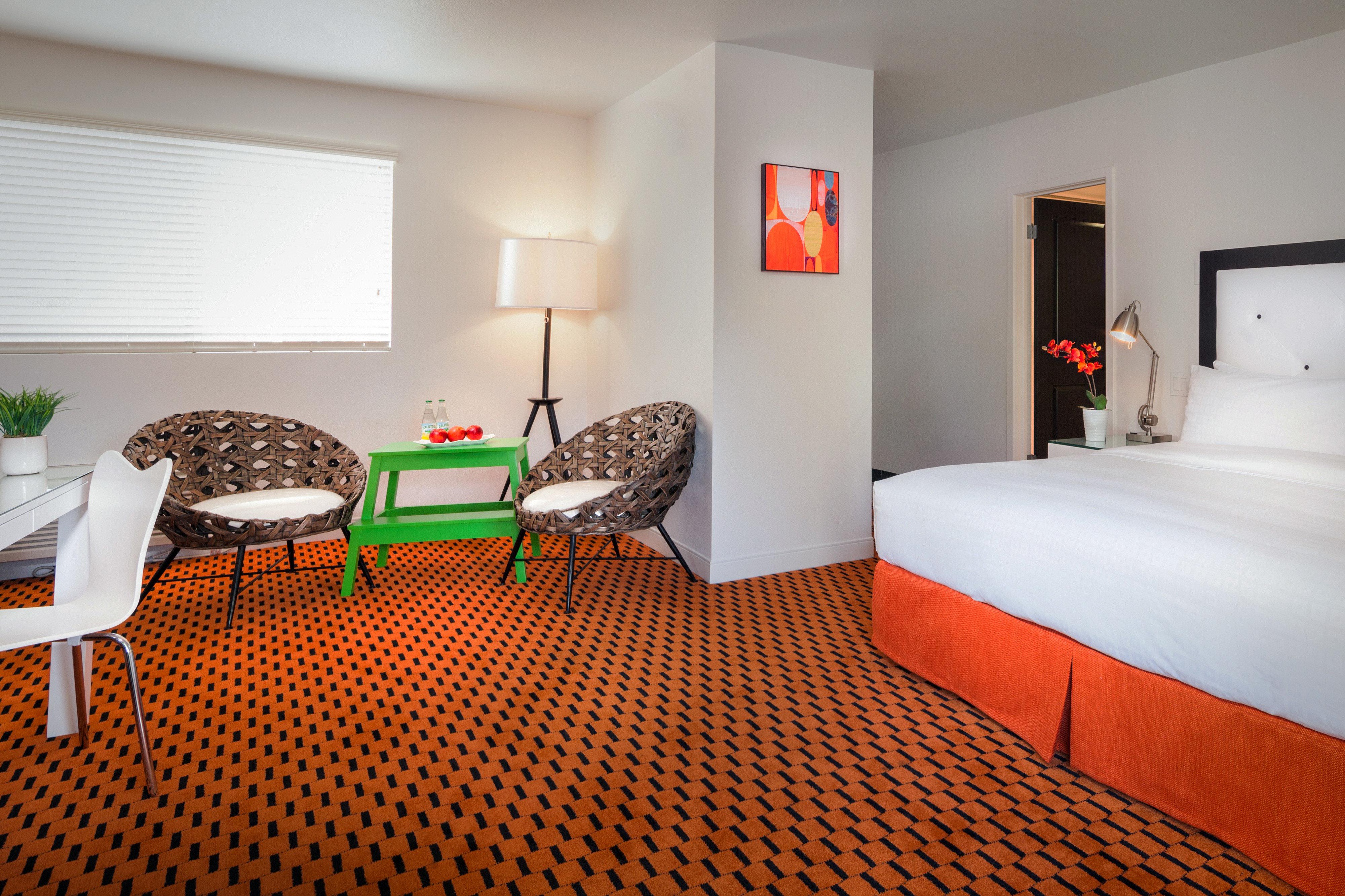 Bedroom Lounge Modern chair property red Suite cottage orange