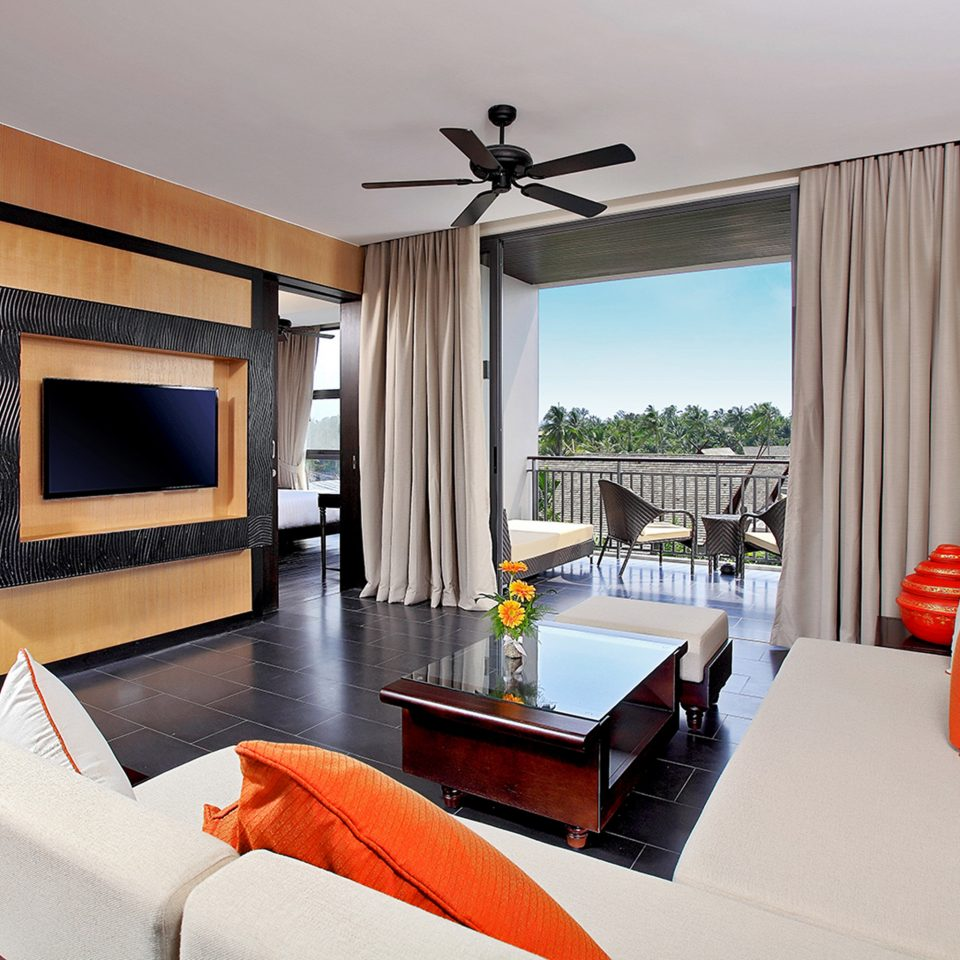 Bedroom Lounge Patio Scenic views Suite Villa sofa property living room home orange cottage Resort condominium flat