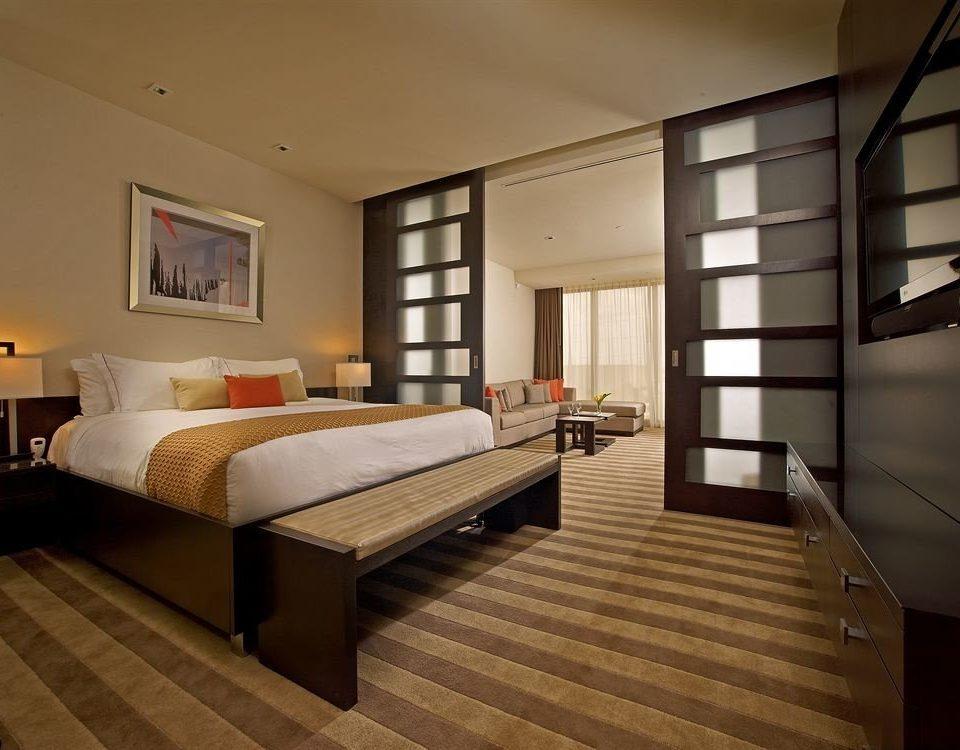 Bedroom Luxury Modern Suite property hardwood living room home wood flooring condominium loft