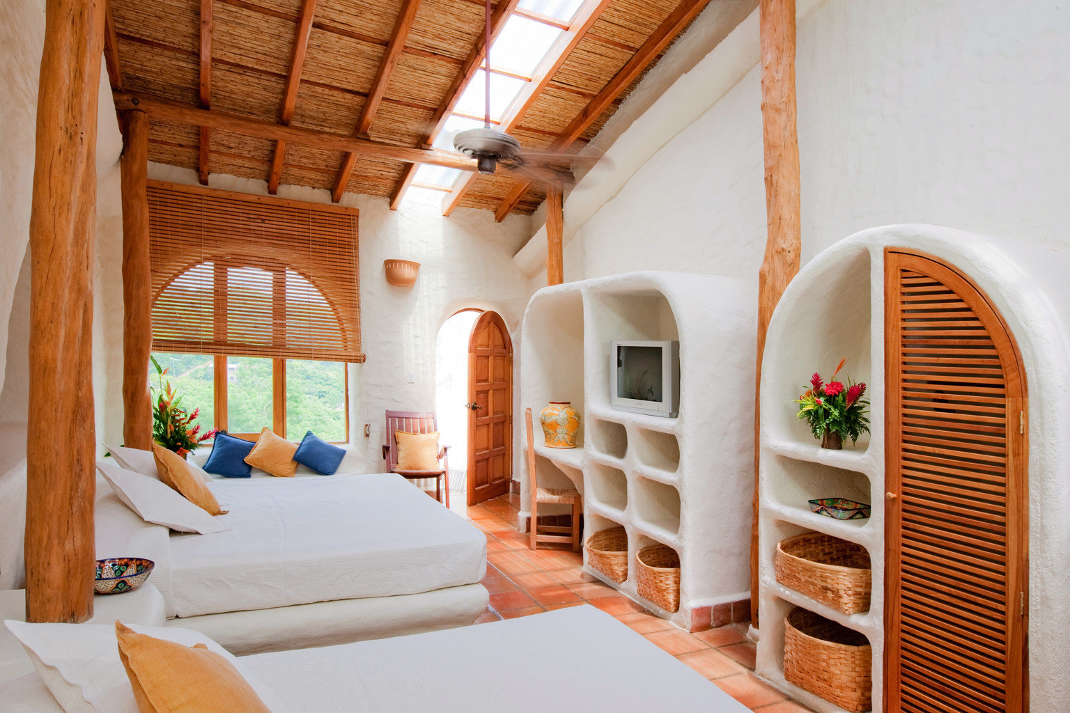 Bedroom Luxury Rustic Tropical Villa property house cottage home farmhouse