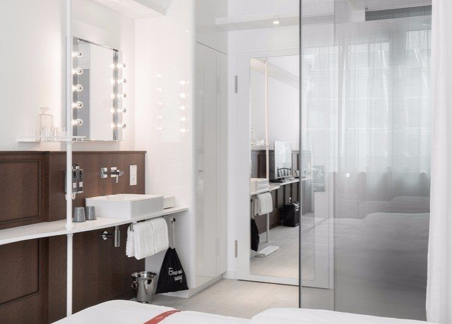 property bathroom white plumbing fixture Bedroom cabinetry Modern