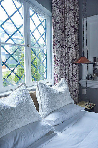 pillow Bedroom curtain textile bed sheet cottage window treatment material living room Modern