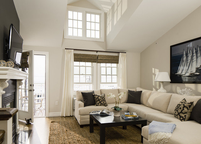 sofa living room property home condominium Bedroom cottage white farmhouse Modern