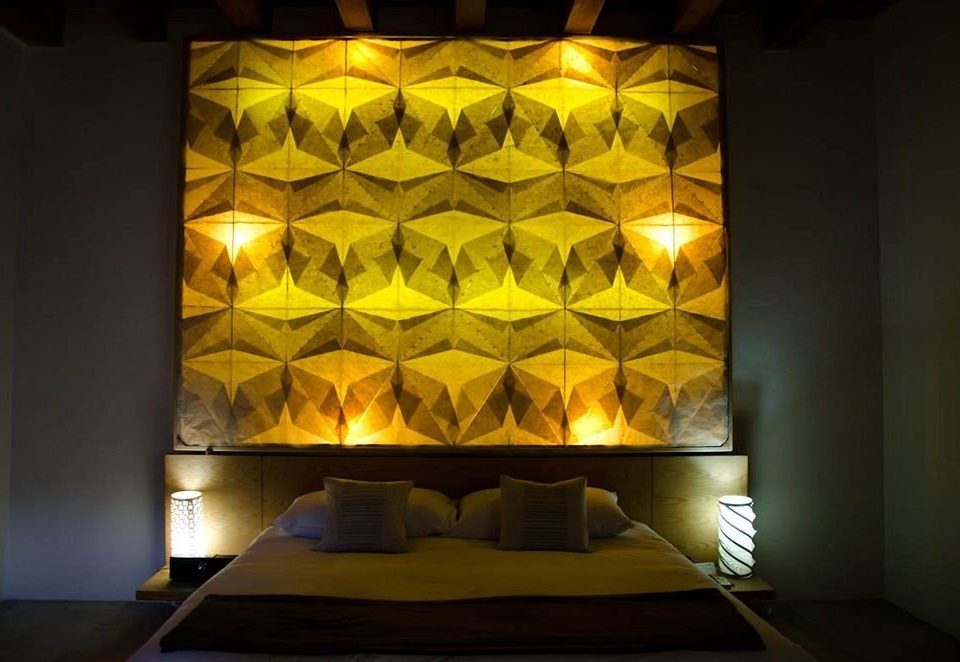 Bedroom Modern yellow light lighting modern art glass