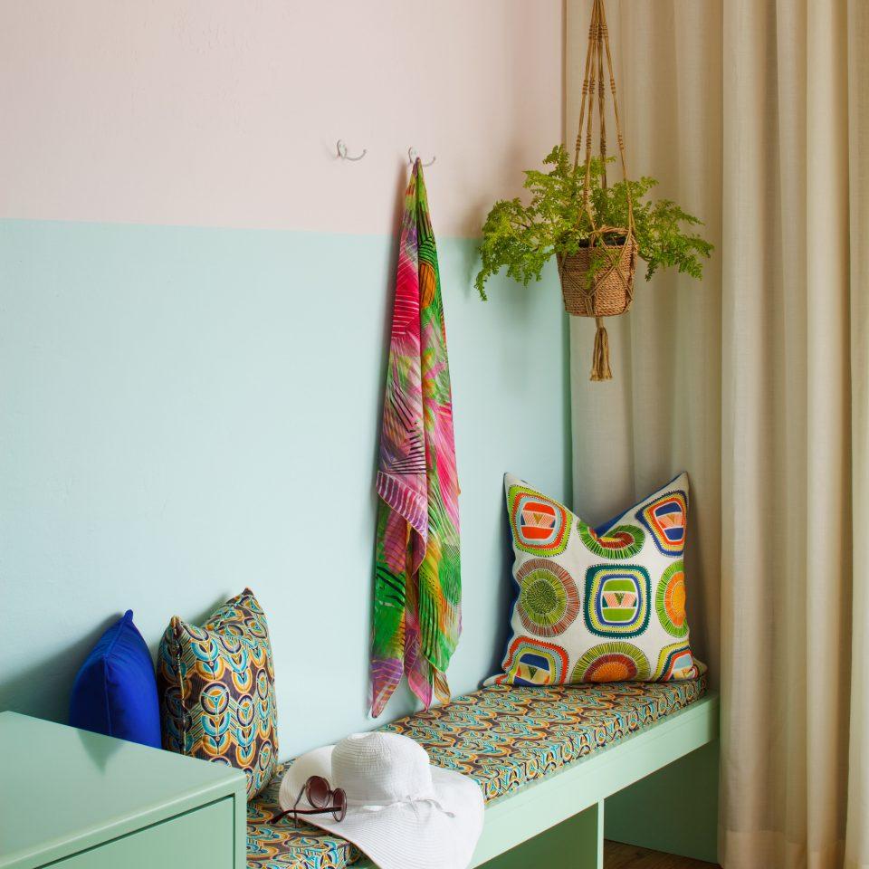 Bedroom Modern living room textile shelf