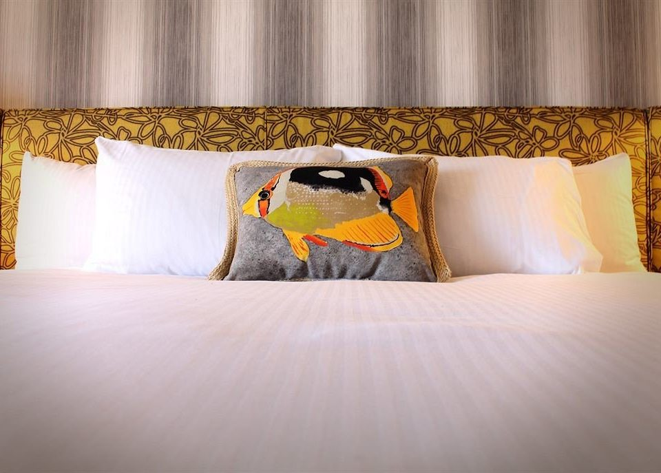 Bedroom Modern Resort color pillow yellow modern art orange textile wallpaper lamp colorful colored