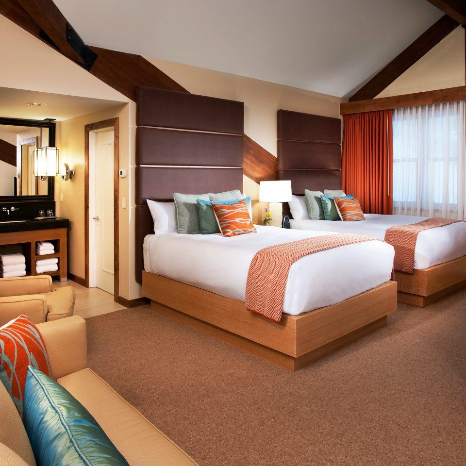 Bedroom Modern Resort Rustic sofa property Suite living room home cottage Villa flat