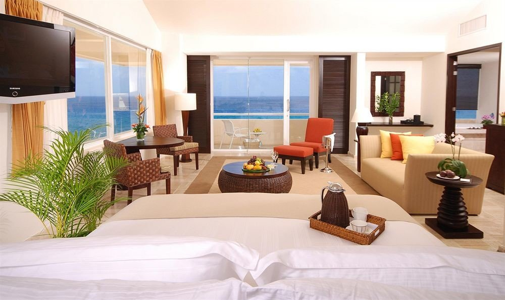 Bedroom Modern Resort Scenic views Waterfront property condominium living room Suite home Villa cottage white mansion
