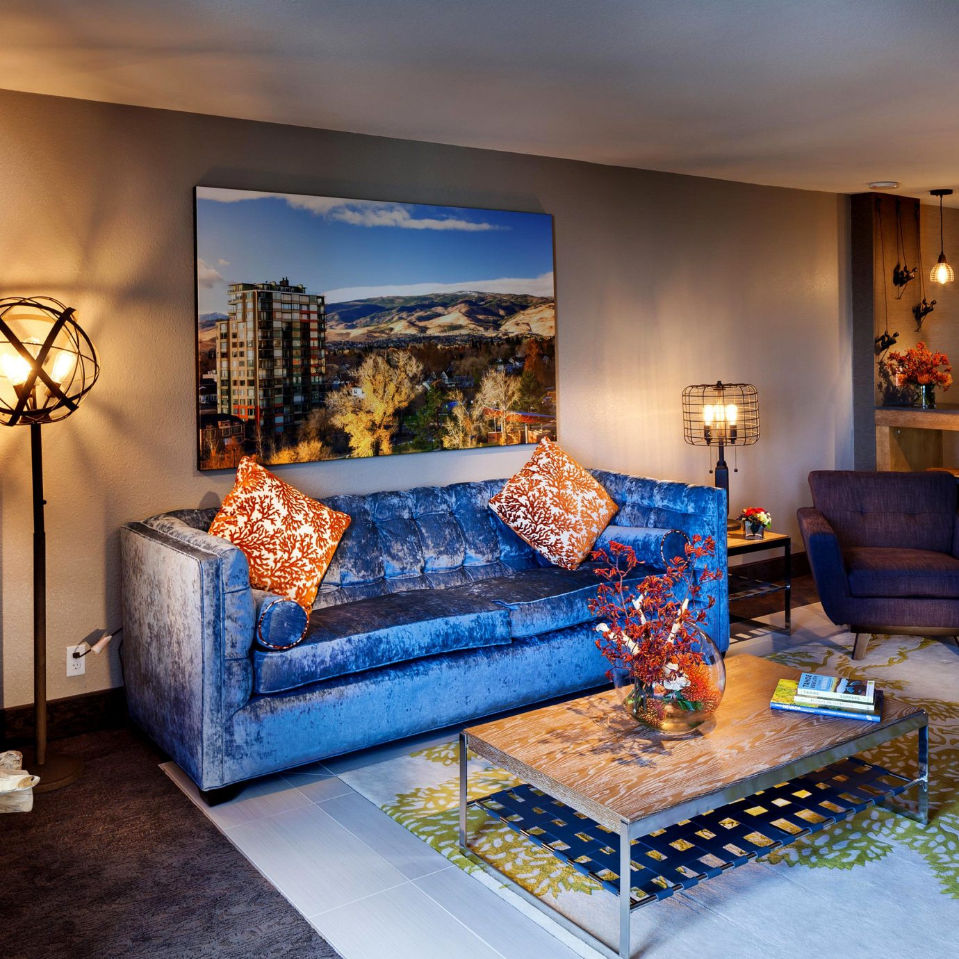 Bedroom Modern Resort Suite property living room home mansion bed sheet Villa