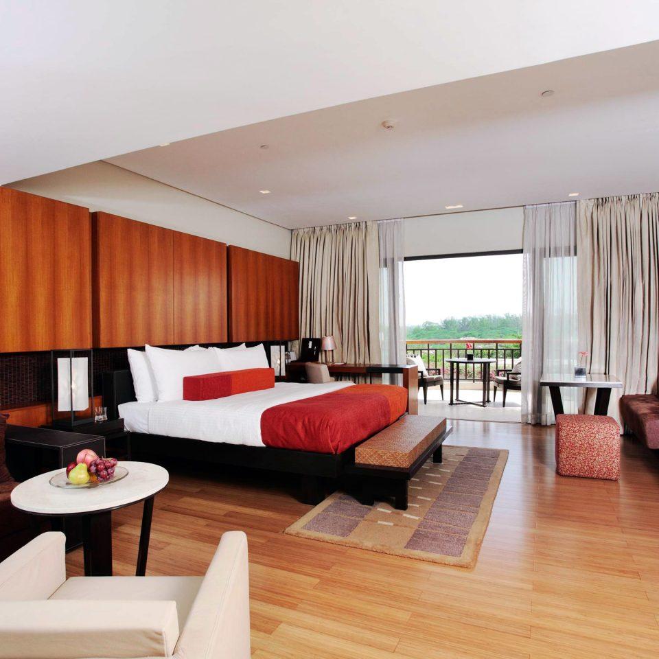 Bedroom Modern Suite sofa property red condominium living room Resort Villa loft flat