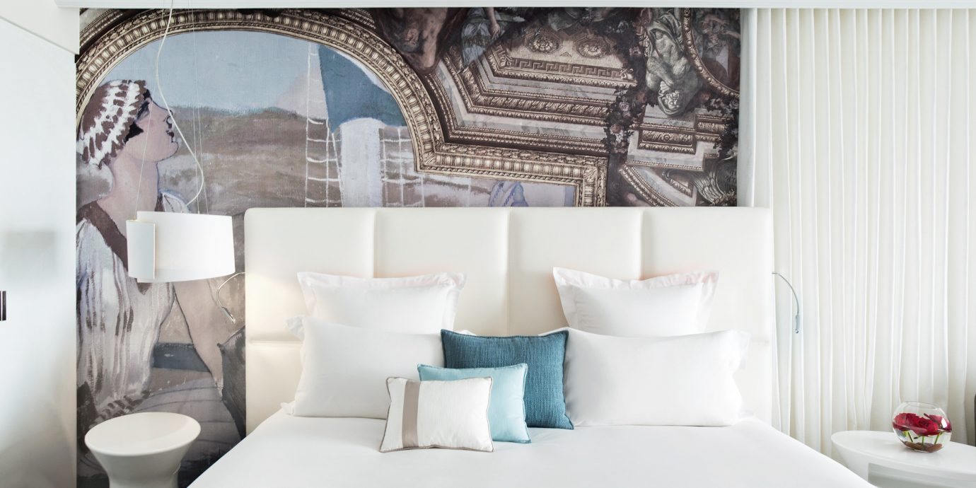 Bedroom Modern Resort white Suite living room bed sheet textile