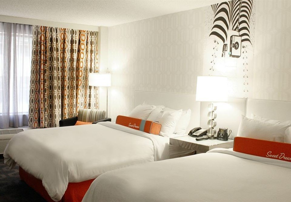 Bedroom Modern Resort property Suite curtain bed sheet orange