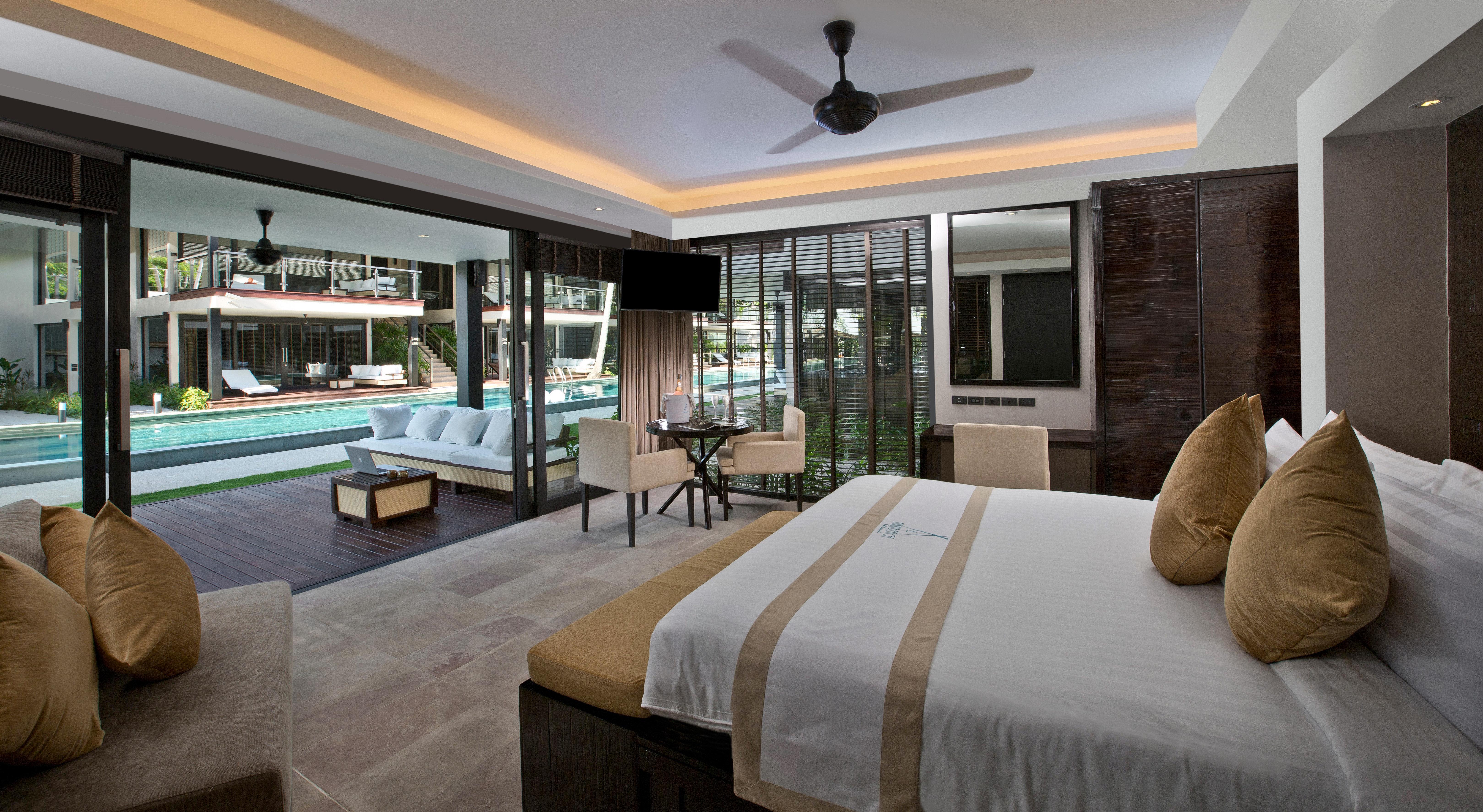 Bedroom Modern Resort Suite sofa property condominium living room home Villa
