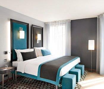 Bedroom property Suite desk condominium living room cottage bed sheet Modern