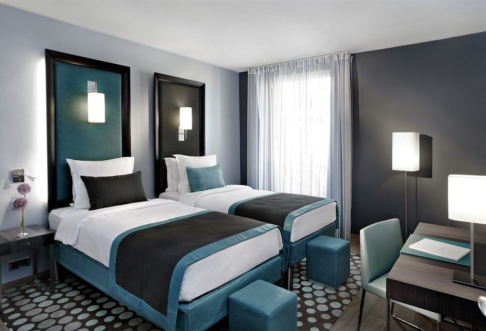 Bedroom property desk condominium Suite living room Modern lamp flat