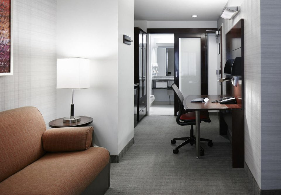 property condominium Suite Bedroom home living room loft Modern lamp flat