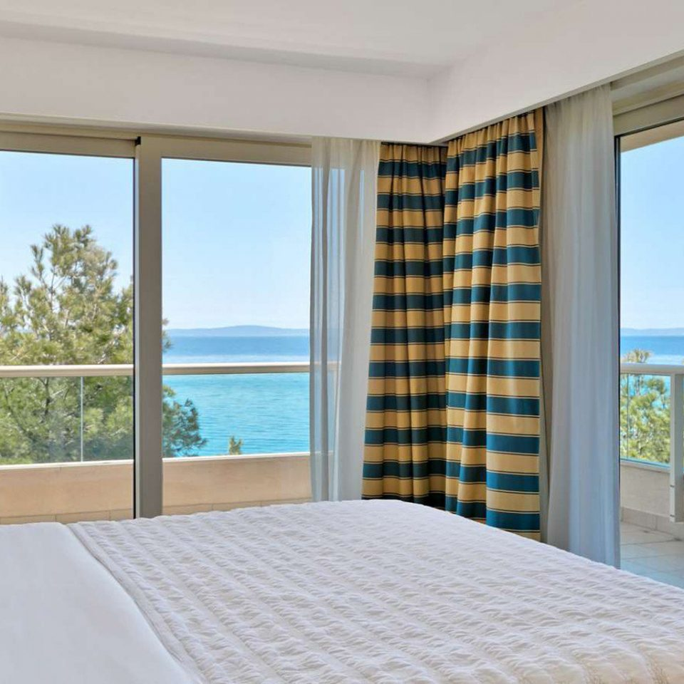 property Bedroom Suite condominium overlooking cottage curtain window treatment Modern