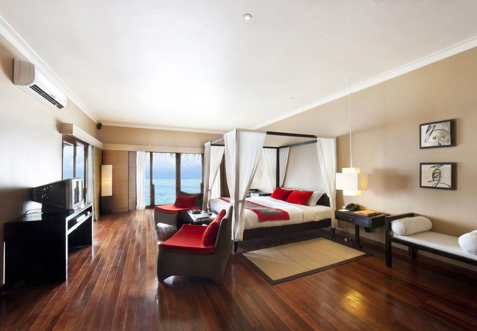 property living room hard home hardwood condominium Bedroom Suite wood flooring loft flat cottage Modern