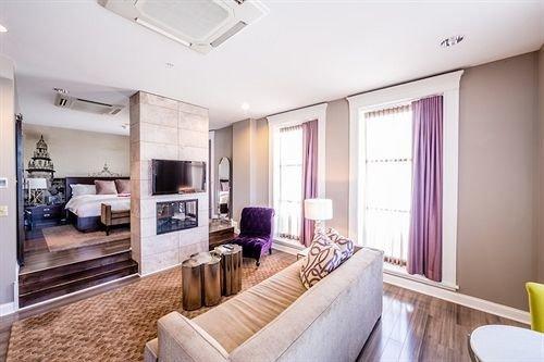 property condominium Suite living room home cottage Bedroom Modern