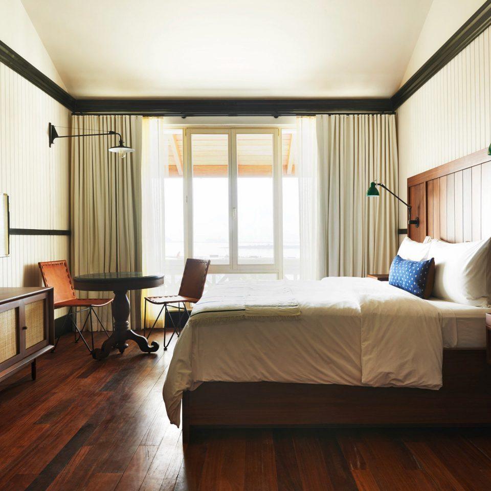Bedroom Modern property living room hardwood home Suite condominium wood flooring cottage loft