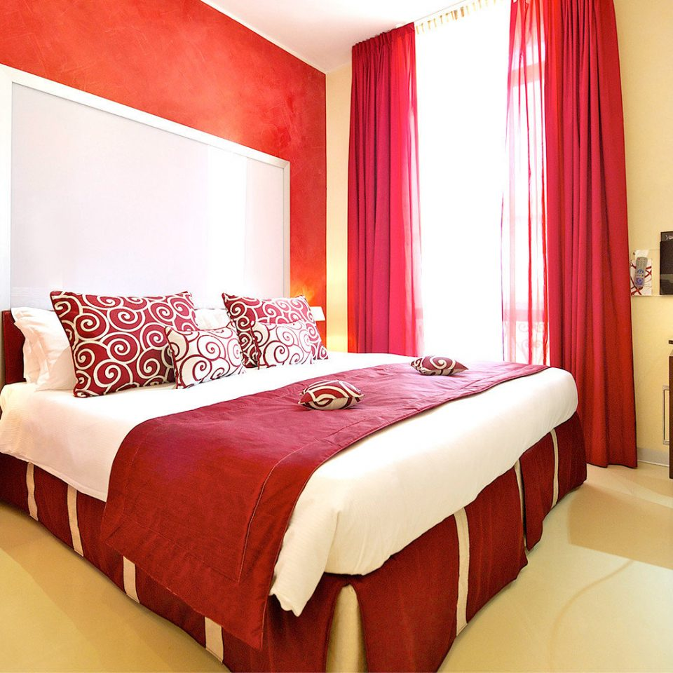 Bedroom Modern red Suite curtain cottage
