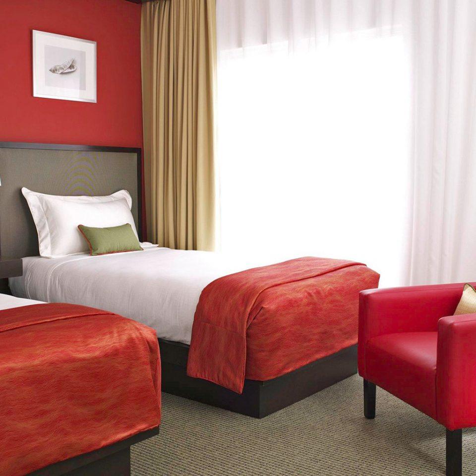 Bedroom Modern red sofa Suite living room orange