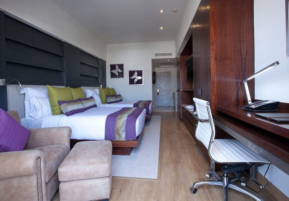 Bedroom Modern Tropical property house home condominium living room cottage Suite loft Villa hard