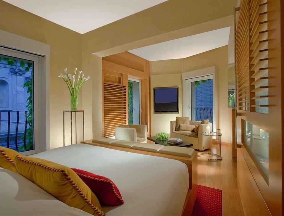 property condominium Suite Bedroom living room home Villa cottage Modern