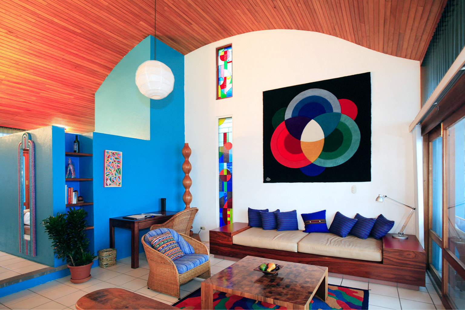 Bedroom Suite Wellness color blue living room house Play mural home Resort colorful painted