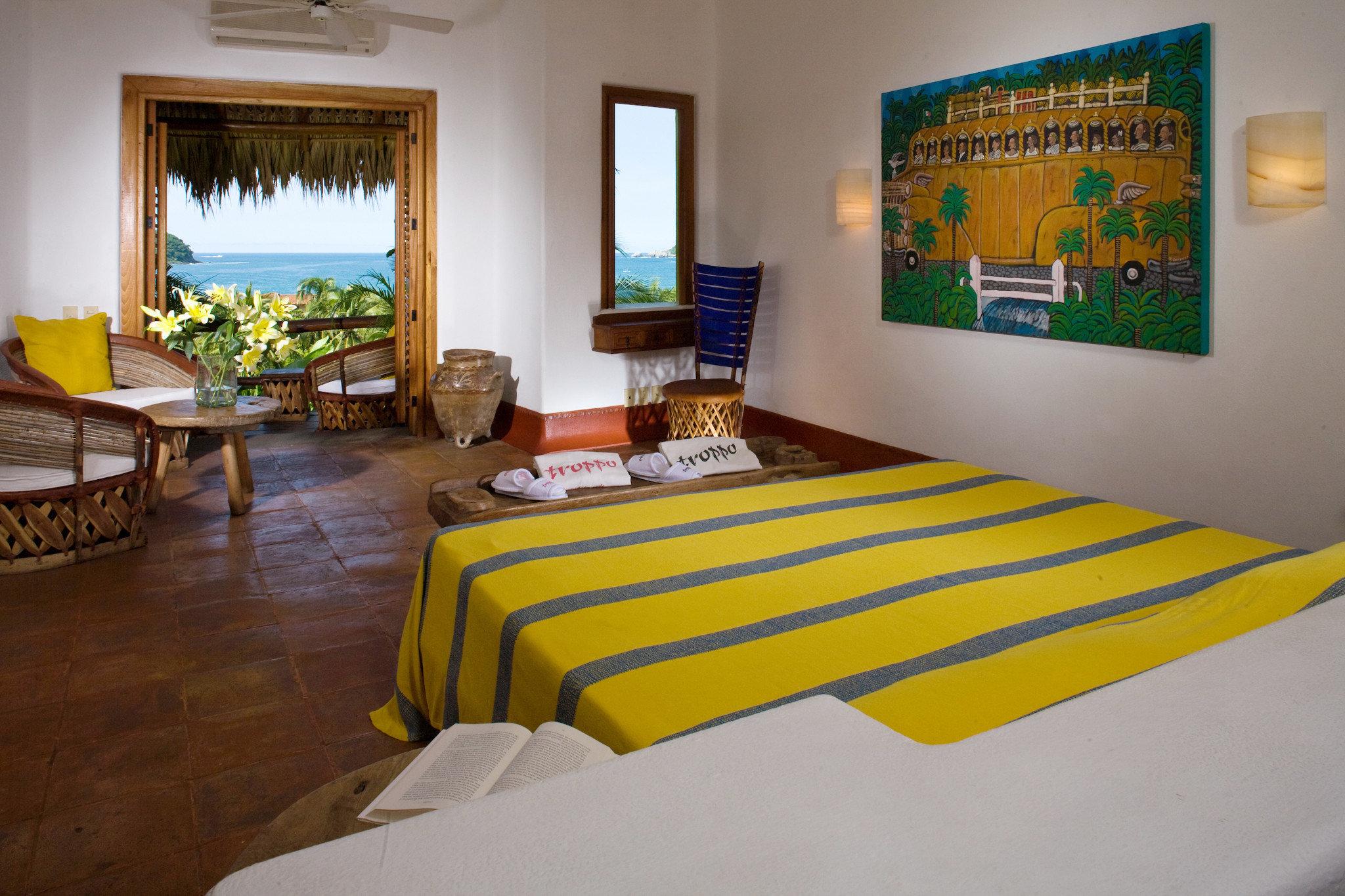 Bedroom Rustic Scenic views property yellow Resort Villa home Suite cottage condominium